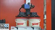 Palleteringsrobot for spande